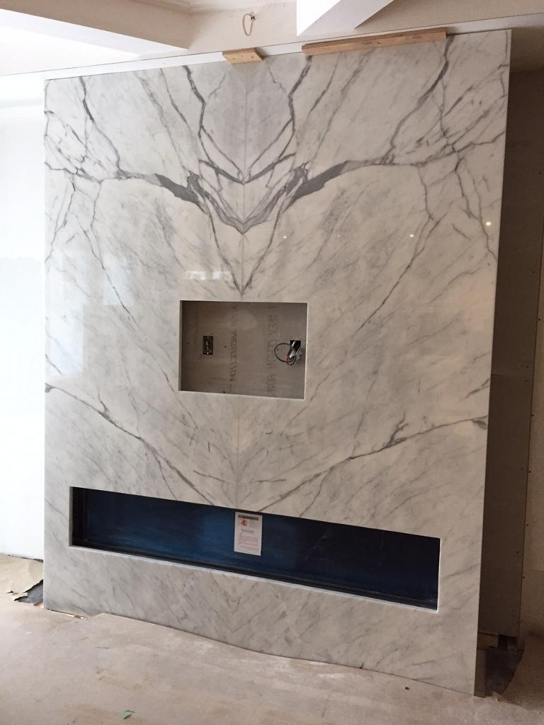 Fireplace Statuario Bookmatched Marble Trend Marble
