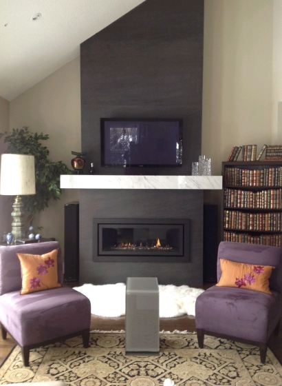 Fireplace Neolith Basalt Black Marble Trend Marble