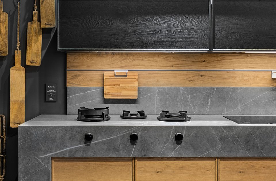 Arrex Le Cucine stand at Salone Del Mobile 2018 | Marble Trend ...