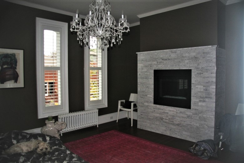 Fireplace - Bianco Carrara Tuscan Mosaic