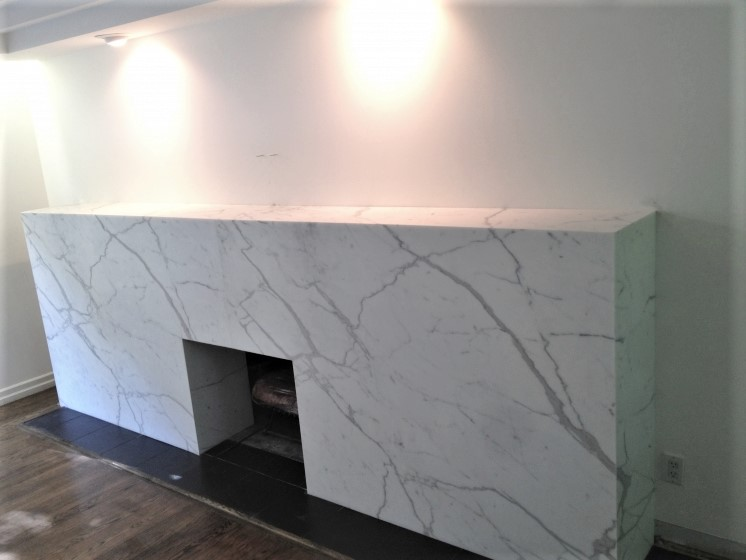 Fireplace Calacatta Oro Marble Trend Marble Granite