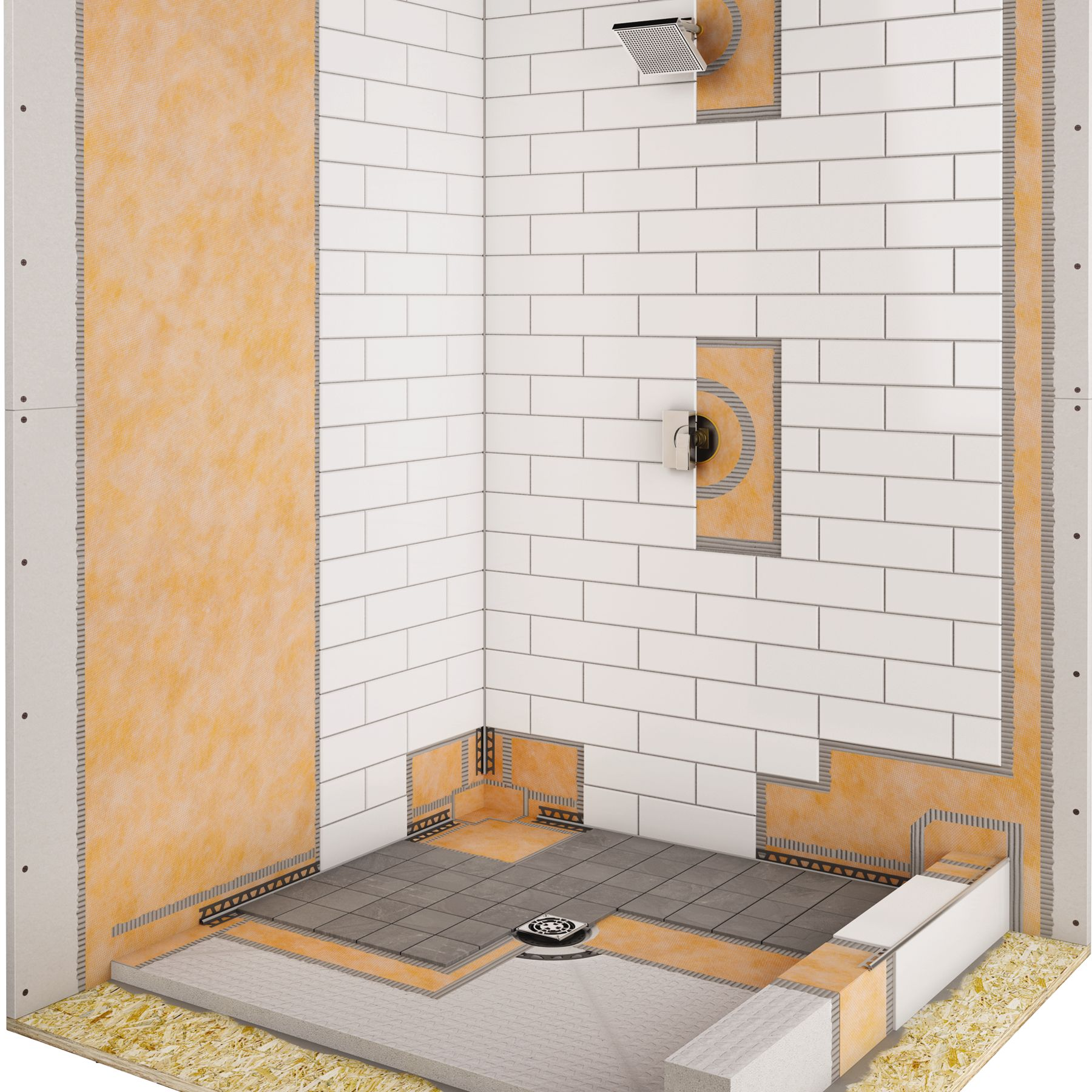 Kerdi shower kit marble trend marble granite tiles toronto ontario marble trend - Walk in shower base kit ...