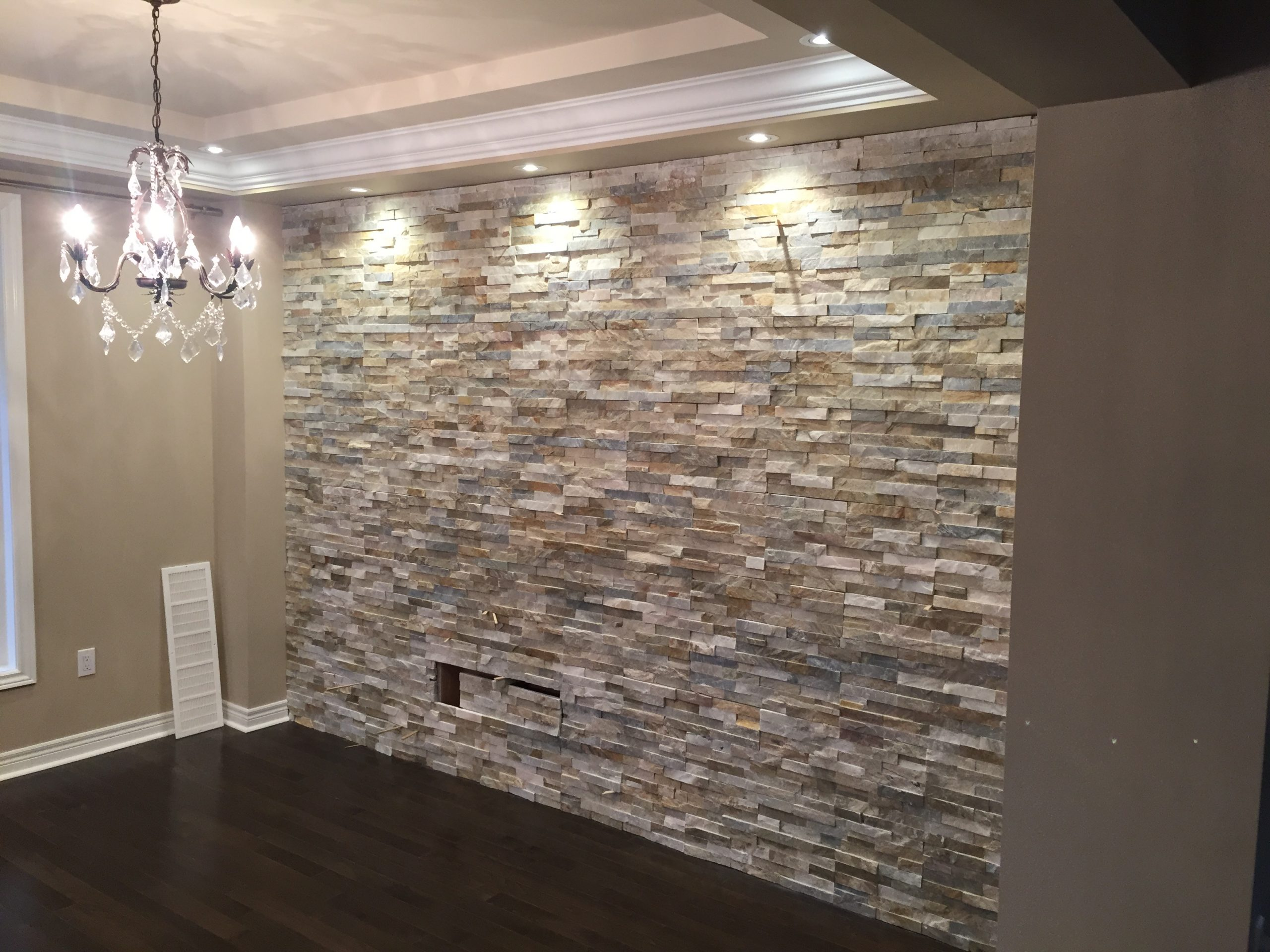 Feature Wall Crema Veneer Stone Marble Trend Marble