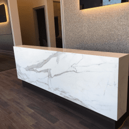 Reception Desk Neolith Estatuario E05 Marble Trend