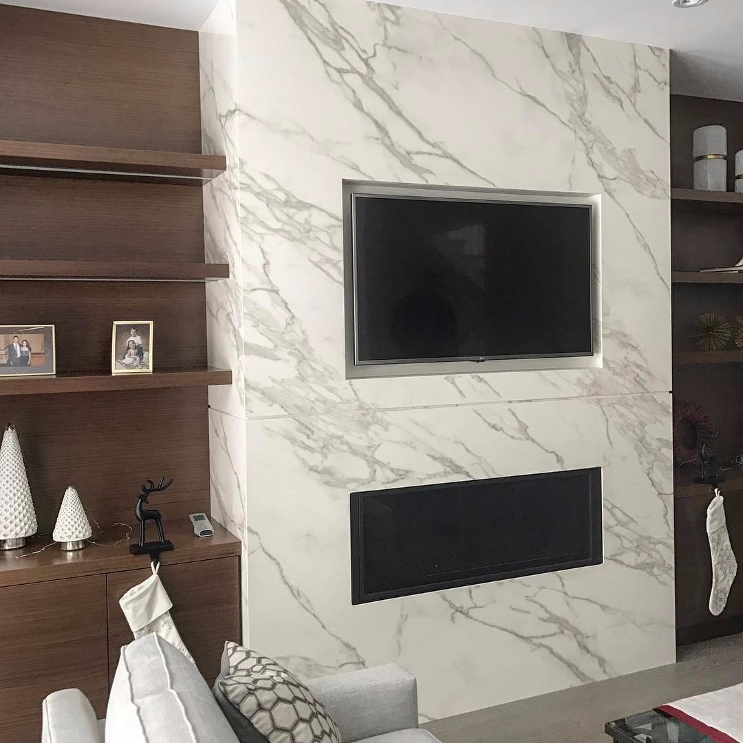 Fireplace Neolith Calacatta Marble Trend Marble