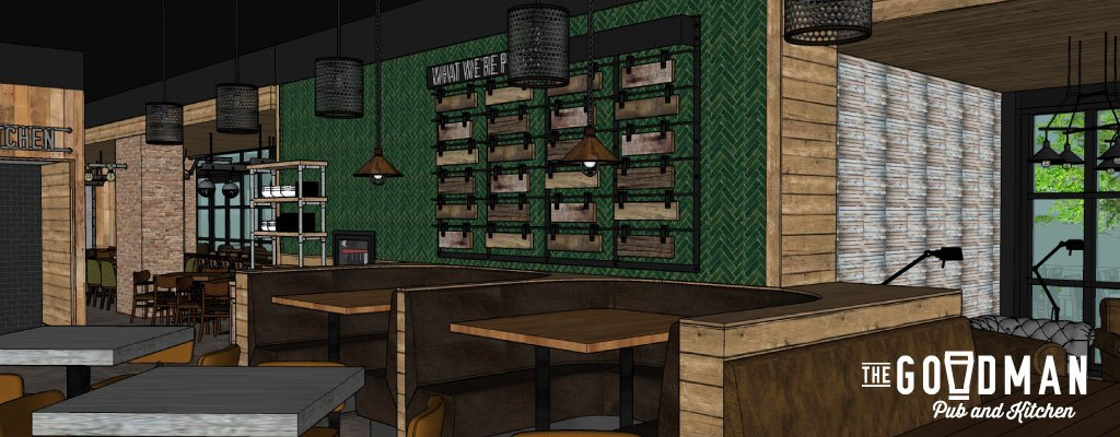 Goodman Pub Rendering - Design Vision