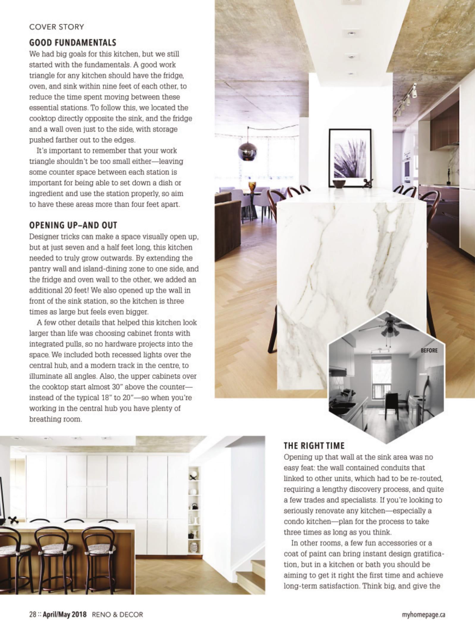 Reno & Decor Magazine Feature 2018