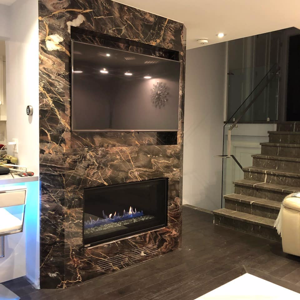 Fireplace - Confusion Dark Marble