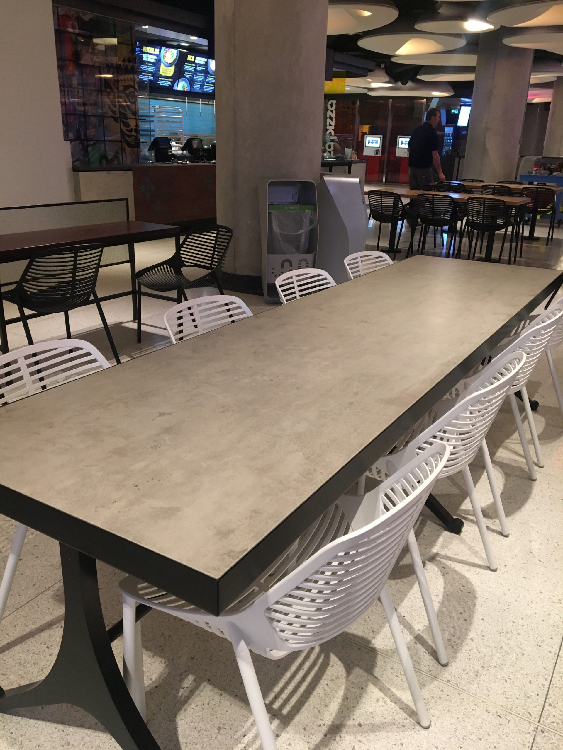 Neolith Beton - Food Court Table Tops