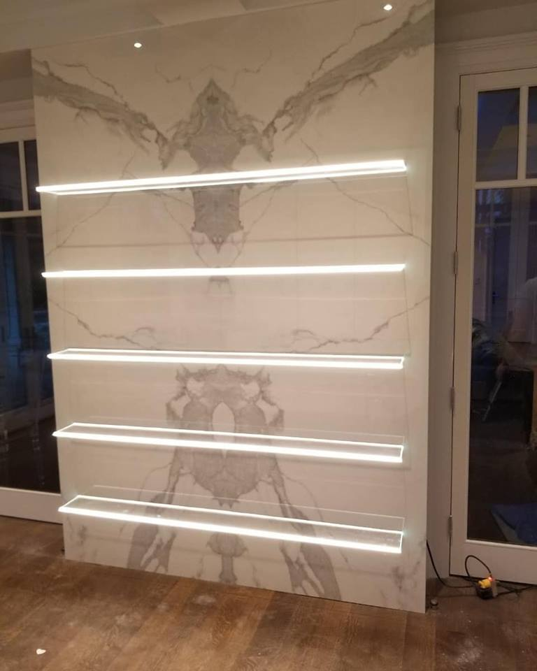 Neolith Feature Wall (with light)