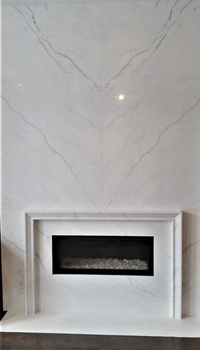 Fireplace Vienna White Marble Trend Marble Granite