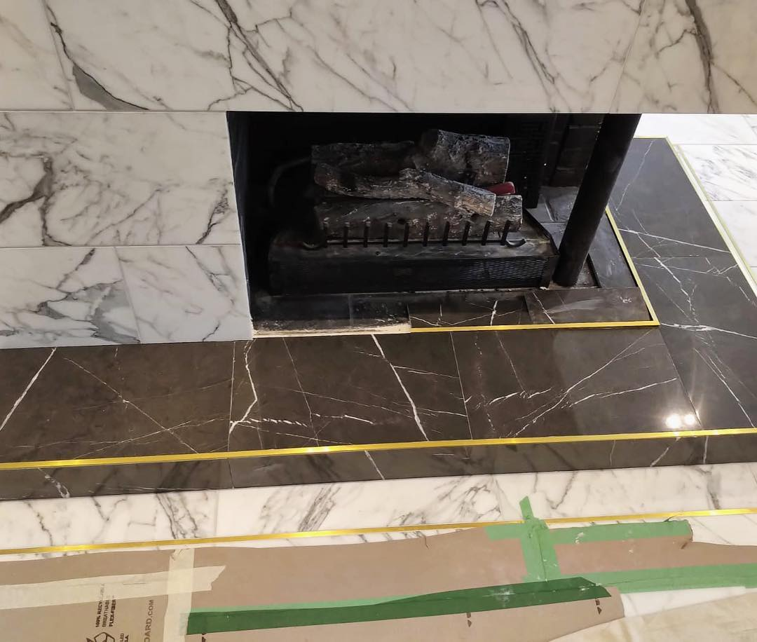 Fireplace Surround - Seta Grigio