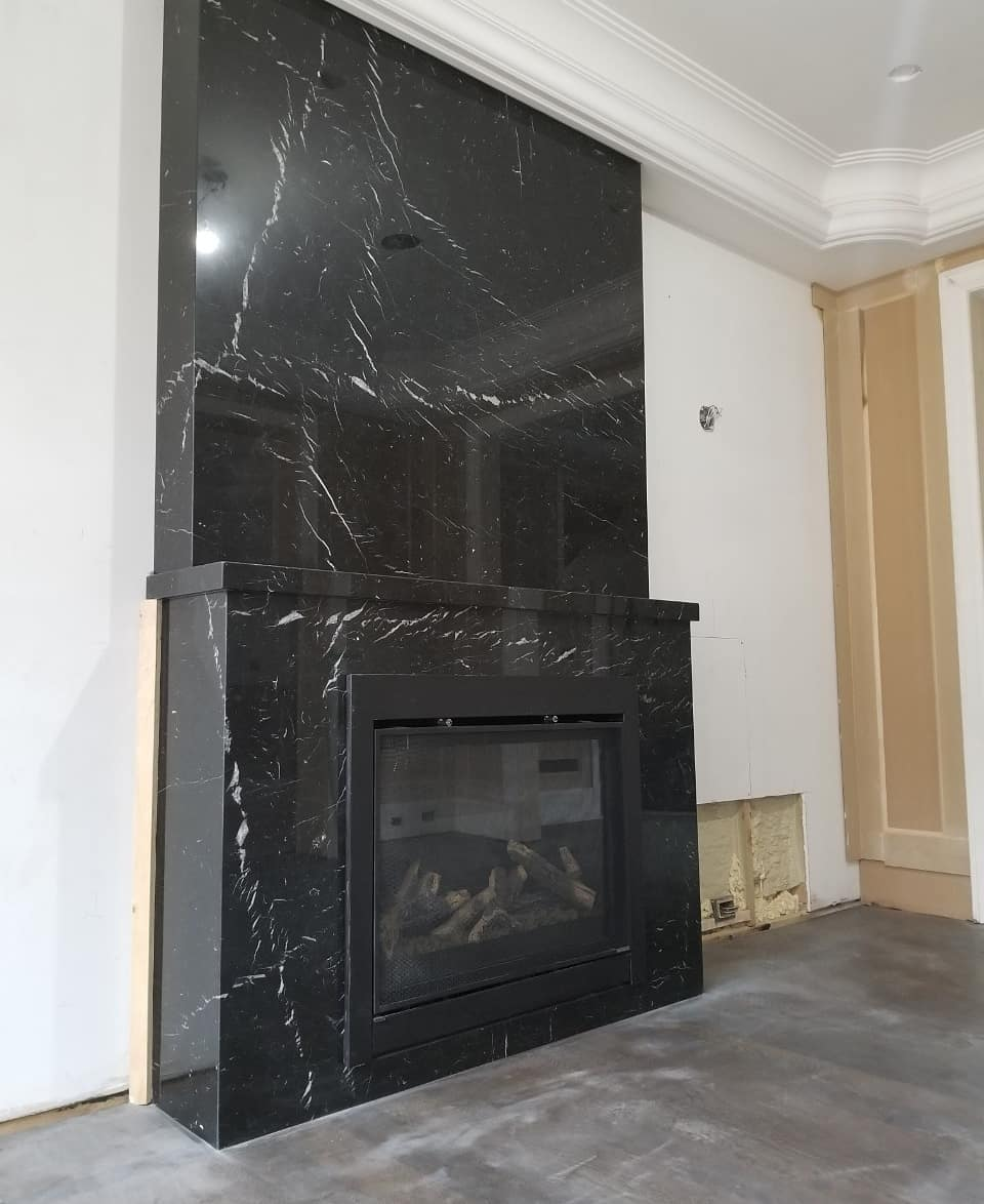 Fireplace Nero Marquina Marble Trend Granite