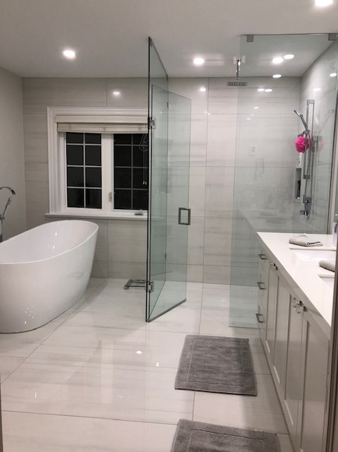 Bathroom Arctic White And Bianco Lasa, Bathroom Granite Tiles