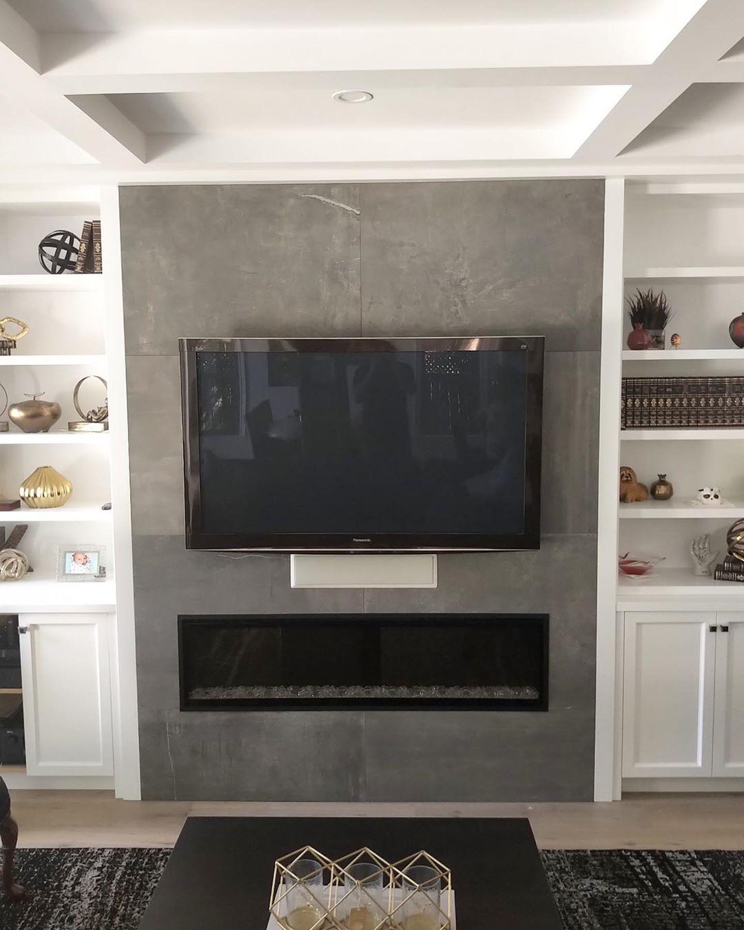 Stone One Dark Fireplace