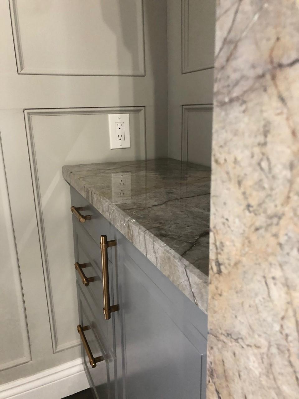 Grey Monet Fireplace Details
