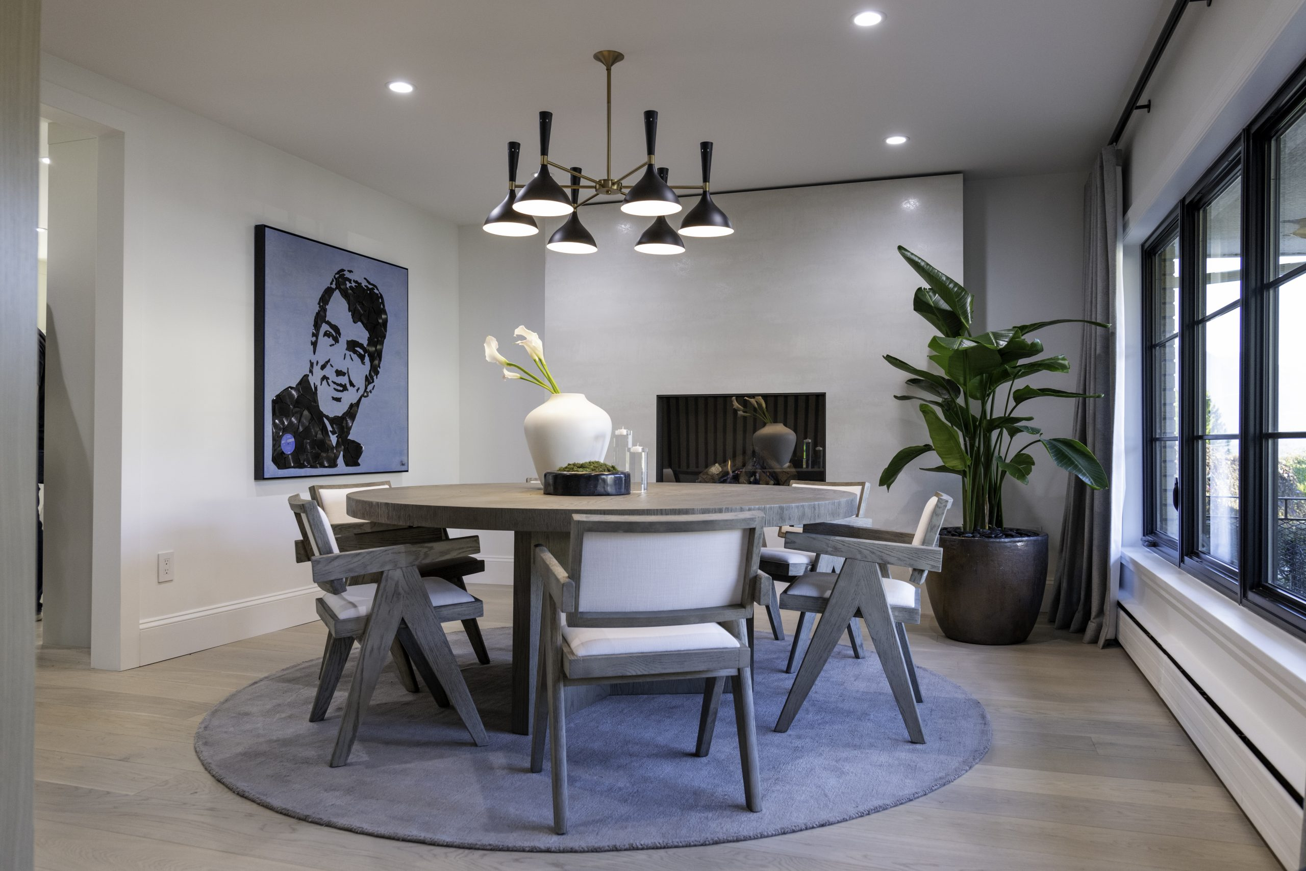 Dining Room: Neolith Iron Frost