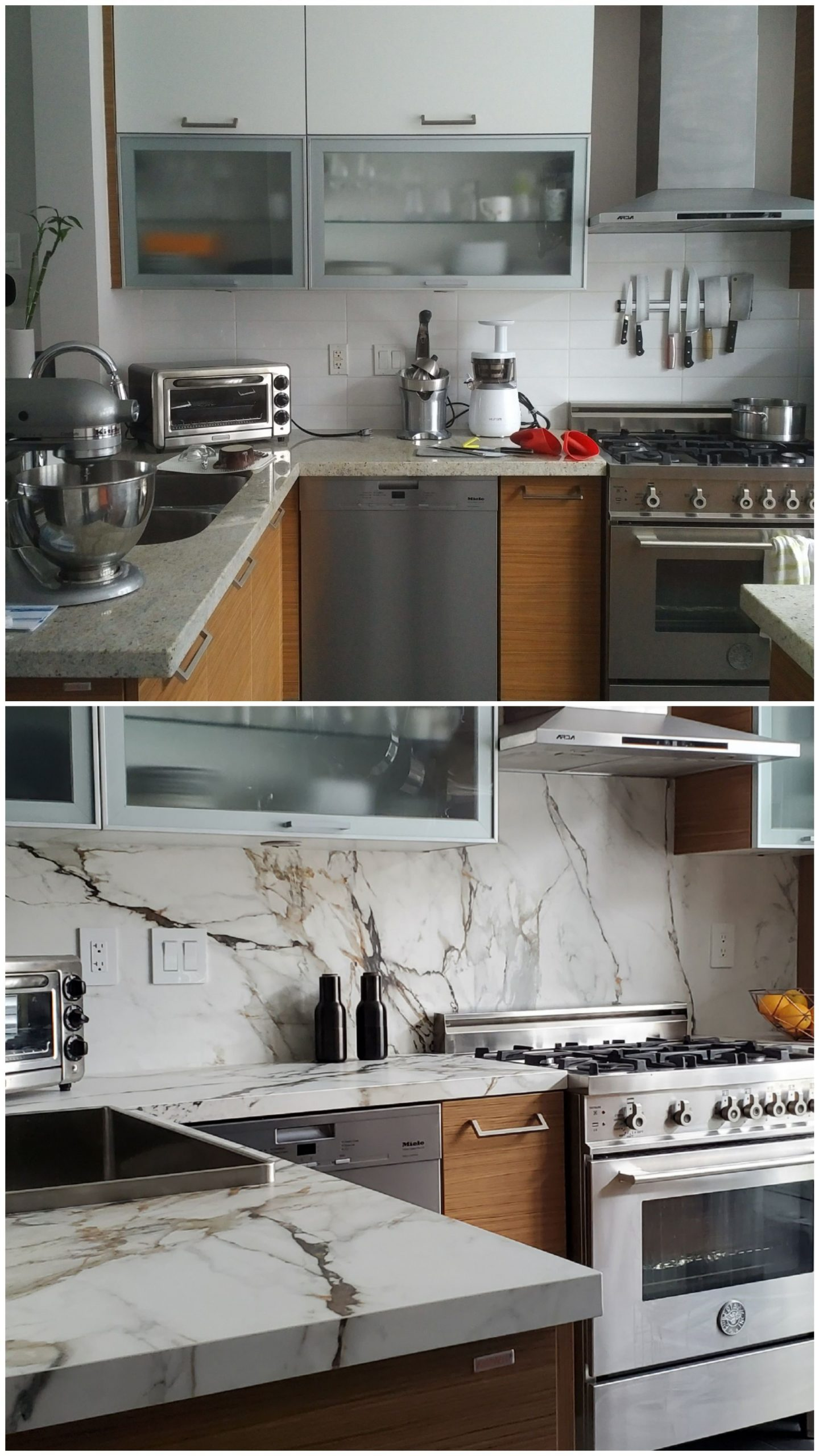 Neolith Calacatta Luxe (Before and After)