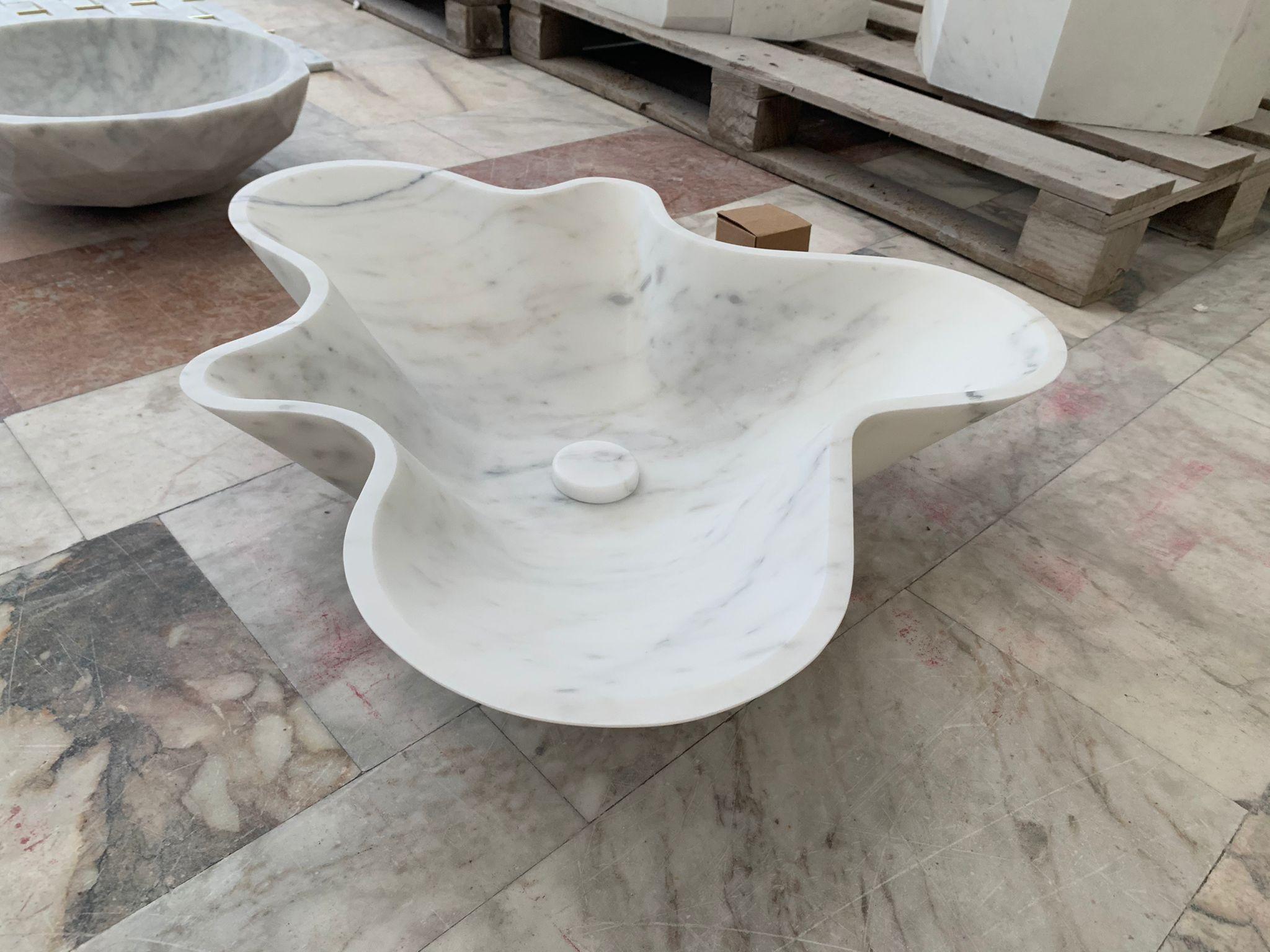 KREOO Nabhi Bowl no.1 in Calacatta Carrara